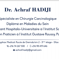 CABINET DE CHIRURGIE ONCOLOGIQUE DU DR ACHRAF HADIJI Ween.tn