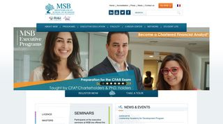 MSB, MEDITERRANEAN SCHOOL OF BUSINESS